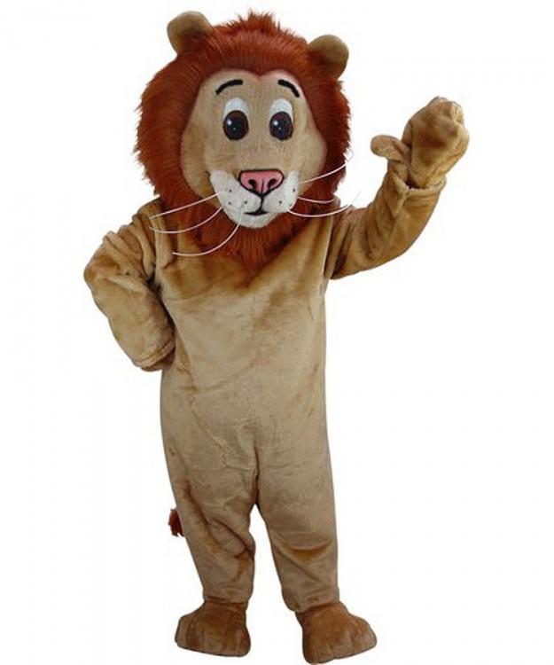 Löwen Maskottchen Tierfigur