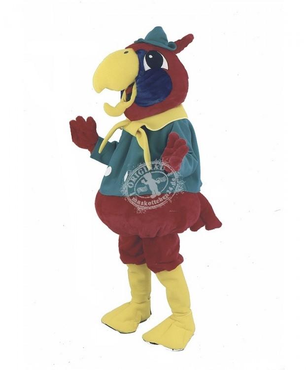 Papagei Verleih Kostüm Maskottchen Figur